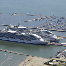 Brilliance and Voyager of the Sea at the Port of Ravenna