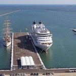 Seabourn Odyssey and Sea Cloud at the Port of Ravenna